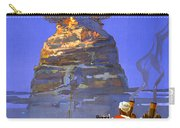 Egypt Vintage Travel Poster Restored Carry-all Pouch