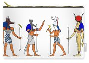 Egyptian Gods And Goddess Carry-all Pouch by Michal Boubin