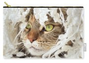 Face Sleeping Cat Carry-all Pouch