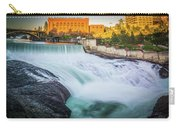 Falls And The Washington Water Power Building Along The Spokane  Carry-all Pouch