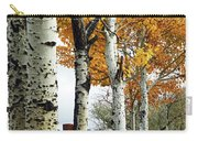 Fenceline Of Fall Aspens Carry-all Pouch