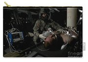 Flight Medic Looks After A Mock Patient Carry-all Pouch