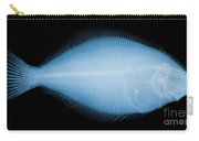 Flounder Fish, X-ray Carry-all Pouch