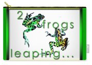 2 Frogs Leaping Carry-all Pouch