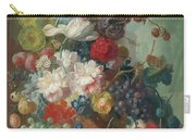 Fruit And Flowers In A Terracotta Vase Carry-all Pouch