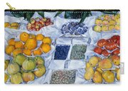 Fruit Displayed On A Stand Carry-all Pouch
