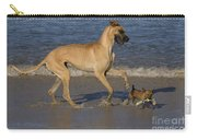 Giant And Tiny Dogs Carry-all Pouch