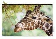 Giraffe Feeding On Green Leaves Of Lettuce Carry-all Pouch