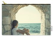Girl At The Sea Carry-all Pouch by Joana Kruse