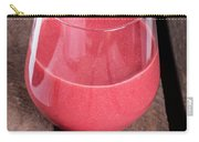 Glass With Strawberry Cocktail On Wooden Plank Carry-all Pouch