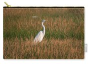 Great Egret At Coba Village Carry-all Pouch