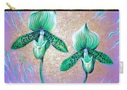 2 Green Orchids. Sunrise Carry-all Pouch