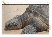 Green Sea Turtle With Gps Carry-all Pouch
