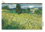 Green Wheat Field With Cypress Carry-all Pouch