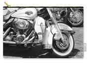 White Harley Davidson Bw Carry-all Pouch by Stefano Senise