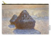 Haystacks, Snow Effect Carry-all Pouch