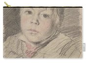 Head Of A Boy Carry-all Pouch
