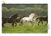 Horses On The Meadow Carry-all Pouch