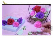 How To Make Preservrd Flower And Clay Flower Arrangement, Colorf Carry-all Pouch