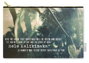 Island Greeting Quote Carry-all Pouch