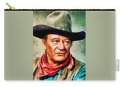 John Wayne, Hollywood Legend By John Springfield Carry-all Pouch