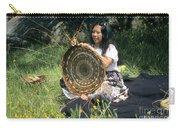 Kashia Pomo Woman Weaving Carry-all Pouch