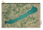 Lake Balaton 3d Render Satellite View Topographic Map Carry-all Pouch