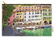 Limone Sul Garda Turquoise Harbor Panoramic View Carry-all Pouch