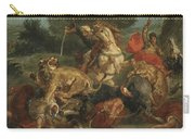 Lion Hunt Carry-all Pouch
