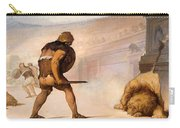 Lion In The Arena Carry-all Pouch