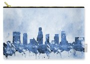 Los Angeles Skyline-blue Carry-all Pouch