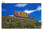 Lsu Tiger Stadium Carry-all Pouch by Scott Pellegrin