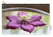 Clematis Flower On Water Carry-all Pouch