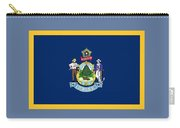Maine Flag Carry-all Pouch