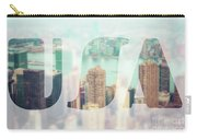 Manhattan Skyline At Sunset, New York City  Carry-all Pouch