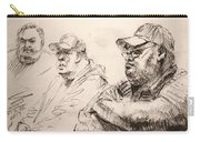 Men At Cafe Carry-all Pouch