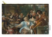 Merry Company On A Terrace Carry-all Pouch