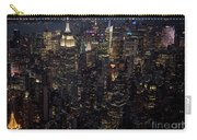 Midtown West Manhattan Skyline Aerial At Night Carry-all Pouch