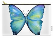 2 Morpho Aega Butterfly Carry-all Pouch by Amy Kirkpatrick