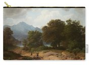 Mountainous Landscape With Shepherds Carry-all Pouch