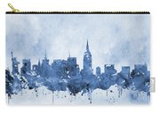 New York Skyline-blue Carry-all Pouch