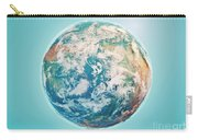 North Pole 3d Render Planet Earth Clouds Carry-all Pouch