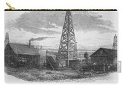 Oil Well, 19th Century Carry-all Pouch