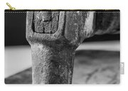 Old Claw Hammer With Wooden Handle Bw Carry-all Pouch