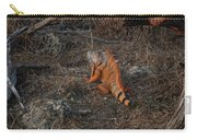 Orange Iguana Carry-all Pouch