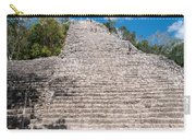 People Climbing Nohoch Mul At The Coba Ruins  Carry-all Pouch