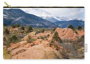 Pikes Peak From Red Rocks Canyon Carry-all Pouch
