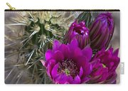 Pink Hedgehog Cactus  Carry-all Pouch