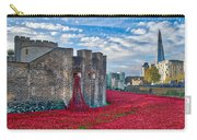 Poppies At The Tower Of London Carry-all Pouch