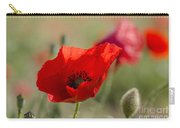 Poppies In Field In Spring Carry-all Pouch